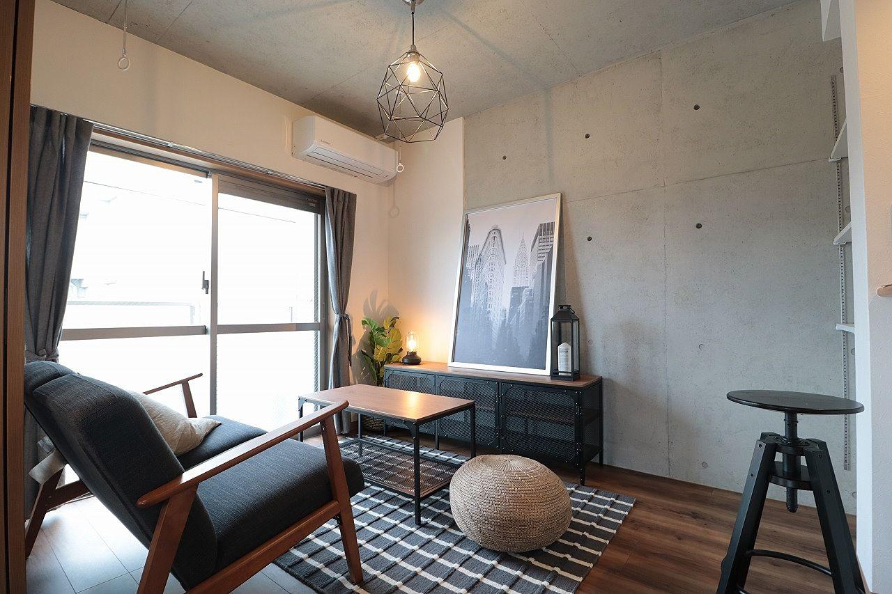 イケア家具の賃貸モデルルームの写真