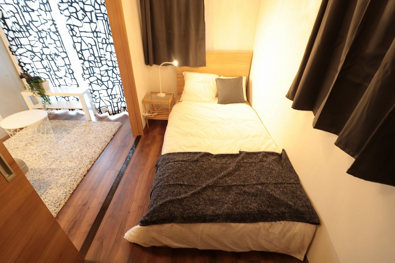 北欧風の寝室のモデルルーム