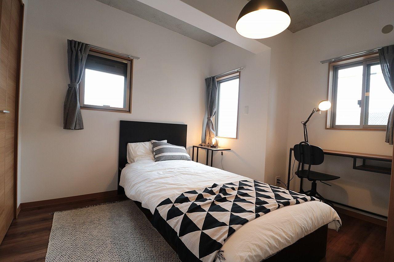 ブルックリンスタイルの寝室のモデルルーム
